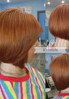 Окрашивание + стрижка волос