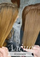 Окрашивание волос (работа с сединой)